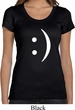 Ladies Funny Shirt Smiley Chat Face Scoop Neck Tee T-Shirt