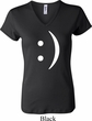 Ladies Funny Shirt Smiley Chat Face V-neck Tee T-Shirt