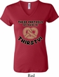 Ladies Funny Shirt Thirsty Pretzels V-neck Tee T-Shirt