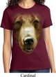 Ladies Grizzly Bear Shirt Big Grizzly Bear Face Tee T-Shirt