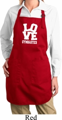 Ladies Gymnastics Apron Love Gymnastics Full Length Apron with Pockets