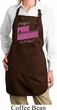 Ladies Gymnastics Apron Pretty in Pink Full Length Apron with Pockets
