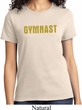 Ladies Gymnastics Shirt Gold Shimmer Gymnast Tee T-Shirt