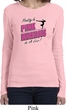 Ladies Gymnastics Shirt Pretty in Pink Long Sleeve Tee T-Shirt