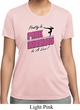 Ladies Gymnastics Shirt Pretty in Pink Moisture Wicking Tee T-Shirt