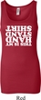 Ladies Gymnastics Tanktop My Handstand Shirt Longer Length Tank Top