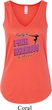Ladies Gymnastics Tanktop Pretty in Pink Flowy V-neck Tank Top