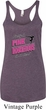 Ladies Gymnastics Tanktop Pretty in Pink Tri Blend Racerback Tank Top
