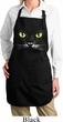 Ladies Halloween Apron Black Cat Full Length Apron with Pockets