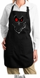 Ladies Halloween Apron Ghost Face Full Length Apron with Pockets