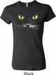 Ladies Halloween Shirt Black Cat Crewneck Tee T-Shirt