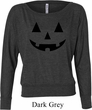 Ladies Halloween Shirt Black Jack O Lantern Off Shoulder Tee T-Shirt