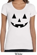 Ladies Halloween Shirt Black Jack O Lantern Scoop Neck Tee T-Shirt