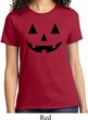 Ladies Halloween Shirt Black Jack O Lantern Tee T-Shirt