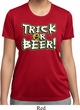 Ladies Halloween Shirt Trick Or Beer Moisture Wicking Tee T-Shirt