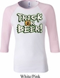 Ladies Halloween Shirt Trick Or Beer Raglan Tee T-Shirt