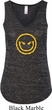 Ladies Halloween Tanktop Evil Smiley Face Flowy V-neck Tank Top