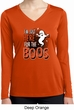 Ladies Halloween Tee I'm Here for the Boos Dry Wicking Long Sleeve