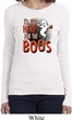 Ladies Halloween Tee I'm Here for the Boos Long Sleeve