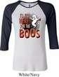 Ladies Halloween Tee I'm Here for the Boos Raglan Shirt