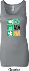 Ladies Irish Tanktop Eat Drink Be Irish Longer Length Tank Top