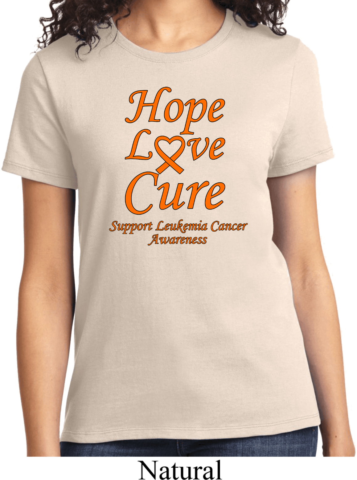 Ladies Leukemia Cancer Awareness Hope Love Cure T-shirt
