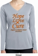 Ladies Leukemia Cancer Hope Love Cure Dry Wicking Long Sleeve