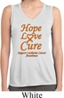 Ladies Leukemia Cancer Hope Love Cure Dry Wicking Sleeveless Shirt