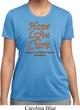 Ladies Leukemia Cancer Hope Love Cure Dry Wicking T-shirt