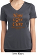Ladies Leukemia Cancer Hope Love Cure Dry Wicking V-neck