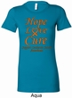 Ladies Leukemia Cancer Hope Love Cure Longer Length Shirt