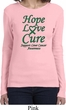 Ladies Liver Cancer Awareness Hope Love Cure Long Sleeve