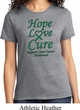 Ladies Liver Cancer Awareness Hope Love Cure T-shirt