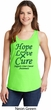 Ladies Liver Cancer Awareness Hope Love Cure Tank Top