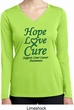 Ladies Liver Cancer Hope Love Cure Dry Wicking Long Sleeve