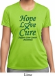 Ladies Liver Cancer Hope Love Cure Dry Wicking T-shirt