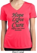 Ladies Liver Cancer Hope Love Cure Dry Wicking V-neck
