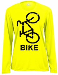 Ladies Moisture Wicking Long Sleeve Cycle Shirt