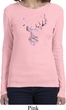 Ladies Mossy Oak Pink Camo Deer Long Sleeve Shirt