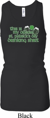 Ladies Official Drinking Shirt Longer Length Racerback Tank Top