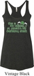 Ladies Official Drinking Shirt Tri Blend Racerback Tank Top