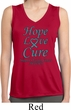 Ladies Ovarian Cancer Hope Love Cure Dry Wicking Sleeveless Shirt