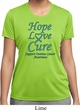 Ladies Ovarian Cancer Hope Love Cure Dry Wicking T-shirt