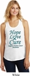 Ladies Ovarian Cancer Hope Love Cure Racerback