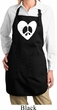 Ladies Peace Apron Hippie Heart Peace Full Length Apron with Pockets