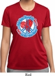 Ladies Peace Shirt All You Need is Love Moisture Wicking Tee T-Shirt