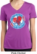 Ladies Peace Shirt All You Need is Love Moisture Wicking V-neck Tee