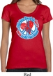 Ladies Peace Shirt All You Need is Love Scoop Neck Tee T-Shirt