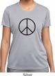 Ladies Peace Shirt Basic Peace Black Moisture Wicking Tee T-Shirt