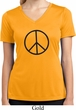 Ladies Peace Shirt Basic Peace Black Moisture Wicking V-neck Tee